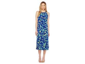 Ellen Tracy Halter Midi Dress Women's Dress