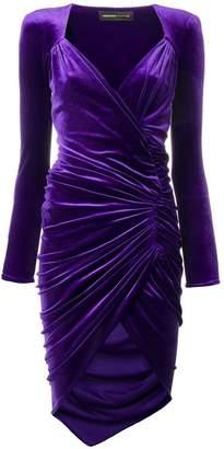 Alexandre Vauthier ruched velvet dress