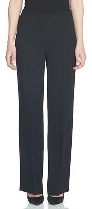 Women's Cece Crepe Straight Leg Pants $99 thestylecure.com
