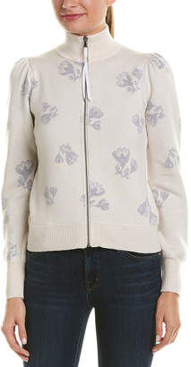 Rebecca Taylor Floral Wool-Blend Cardigan
