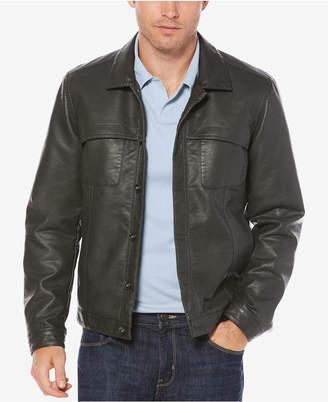 Perry Ellis Men's Faux-Leather Jacket