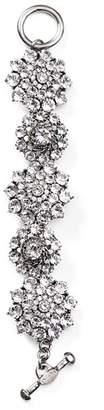 Oscar de la Renta Crystal Flower Toggle Bracelet