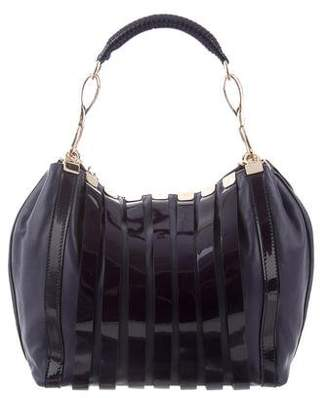 259cf5008981 Pre-Owned at TheRealReal · Versace Striped Patent Leather Hobo