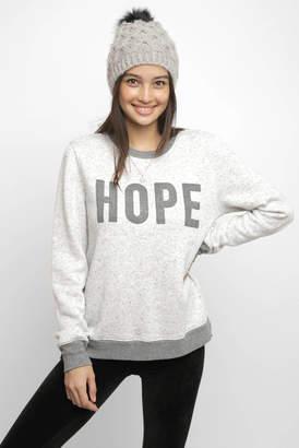 Sol Angeles Hope Peppered Fleece Keyhole Back Sweatshirt