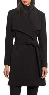 Lauren Ralph Lauren Crepe Tie Waist Trench Coat