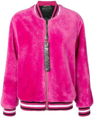 Philipp Plein fur bomber jacket