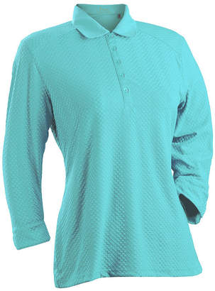Asstd National Brand Nancy Lopez Golf Grace 3/4 Sleeve Polo Plus