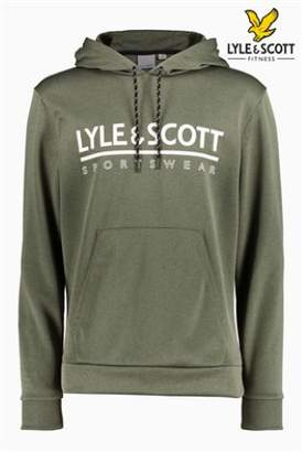 Next Mens Lyle & Scott Sport Cheviot Graphic Overhead Hoody