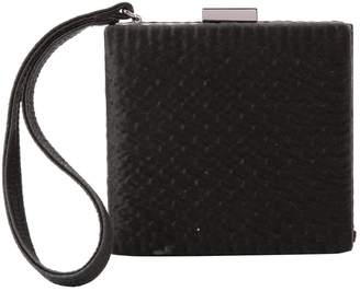 Paule Ka Black Cloth Clutch Bag