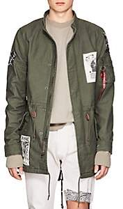 Alpha Industries MEN'S SOUND FACTORY CLUB FLYER COTTON FISHTAIL PARKA-DK. GREEN SIZE L