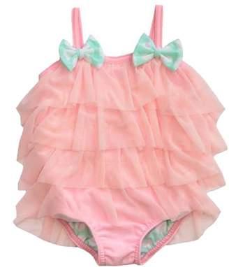 Frou Frou Pink Ruffle Swimsuit