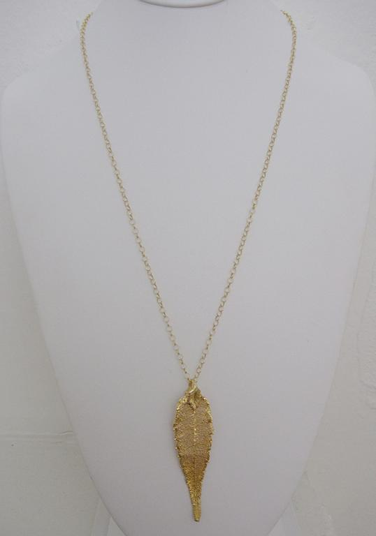 H. Lane Gold Leaf Necklace
