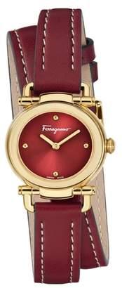 Salvatore Ferragamo Gancino Leather Strap Watch, 26mm
