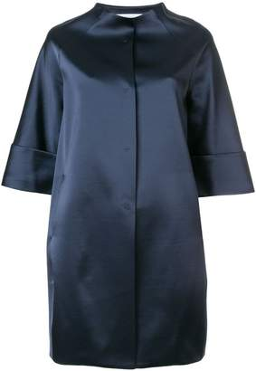 Gianluca Capannolo glossy collarless coat
