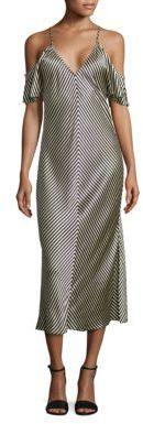 Alexander WangT by Alexander Wang T by Striped Silk Midi Dress