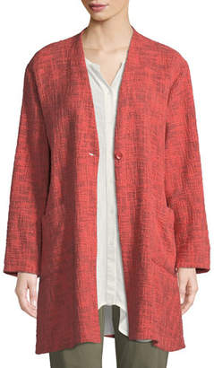Jordana Masai Melange Boucle Single-Button Jacket