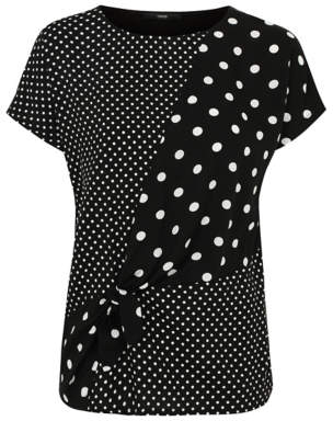 George Spot Print Knotted Detail Top