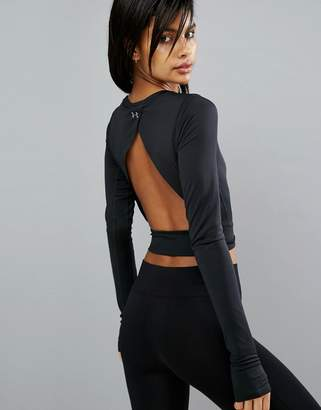 Under Armour Crop Top With Open Back $72 thestylecure.com