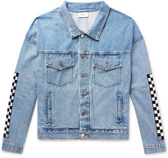 Levi's Rhude Appliqued Denim Trucker Jacket - Blue