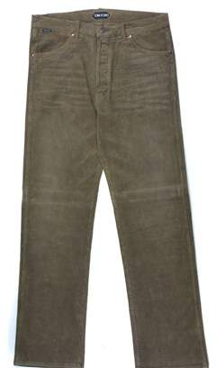 Tom Ford Dark Brown Corduroy Selvedge Loose Fit Jeans