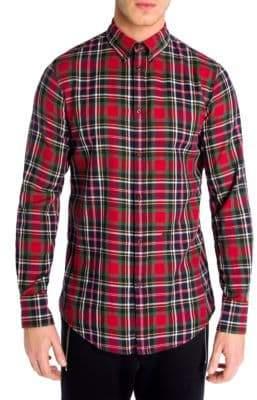 DSQUARED2 Checkered Button-Down Shirt