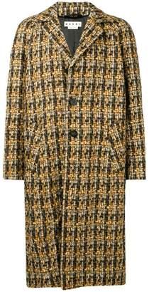 Marni tweed oversized coat