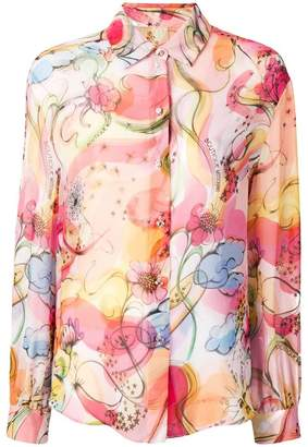Moschino star and blooms printed shirt