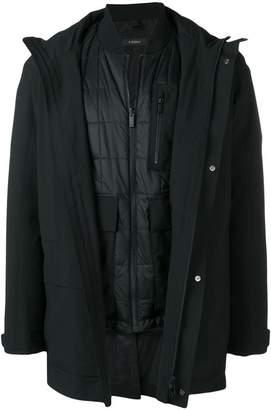 Ermenegildo Zegna layered single-breasted coat