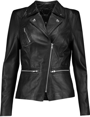 Muubaa Kajana leather biker jacket $495 thestylecure.com