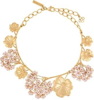 Oscar de la Renta Geranium painted necklace