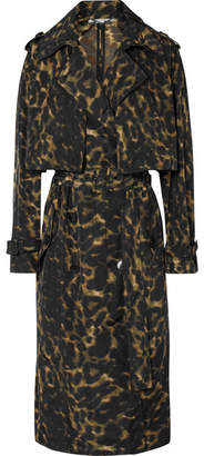 Stella McCartney Leopard-print Nylon Trench Coat - Brown