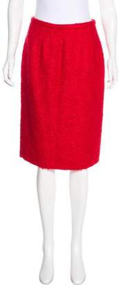 Valentino Textured Knee-Length Skirt