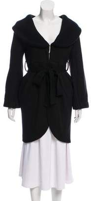 Alice + Olivia Wool Belted Cardigan