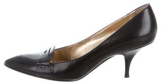 Missoni Leather Pointed-Toes Pumps