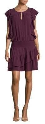 Ella Moss Ruffled Keyhole Sheath Dress