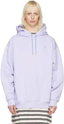 Acne Studios Purple Yala Face Hoodie $420 thestylecure.com