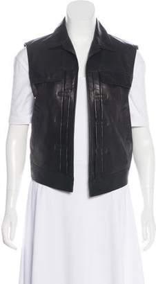 Rag & Bone Open-Front Leather Vest