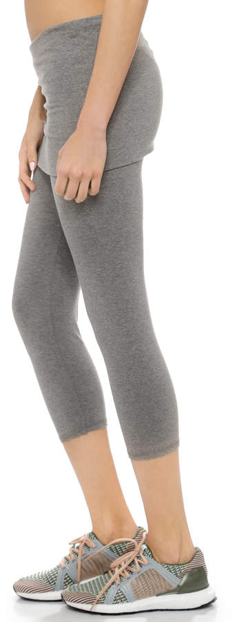 So Low SOLOW Fold Over Cropped Leggings