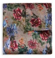 Eton Silk Floral Pocket Square