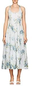 Brock Collection Women's Daphne Floral Cotton Midi-Dress - Blue