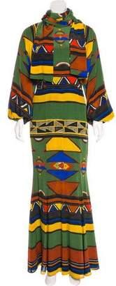 Stella Jean Silk Maxi Dress w/ Tags