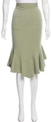 Givenchy Peplum Midi Skirt
