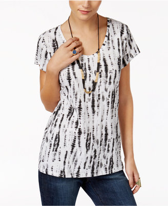 Style & Co Cotton Printed T-Shirt, Created for Macy's $12.98 thestylecure.com