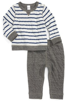 Infant Boy's Nordstrom Baby Reversible Double Knit T-Shirt & Pants Set $39 thestylecure.com