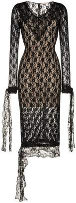 Christopher Kane Long-sleeved V-neck lace midi dress