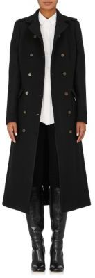 Barneys New York Women's Military Wool-Blend Coat-BLACK $1,595 thestylecure.com