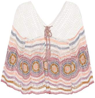 Anna Kosturova Carly crocheted cotton top