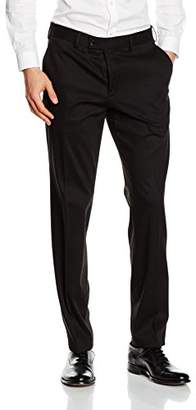 Mens Pantalon Structure Solide Costume Pantalon Tailleur Tom Nc7qzDzuy9