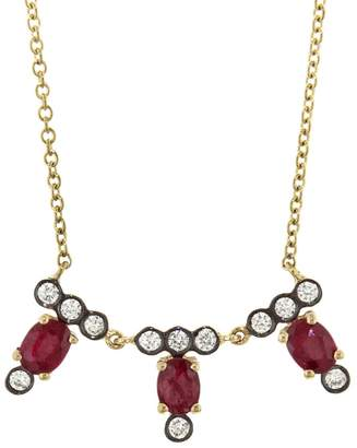 Yannis Sergakis Adornments Charnières Triple Vertical Rouge Ruby And Diamond Necklace