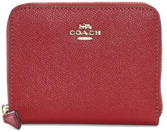 Coach Small Red Leather Zip Around Wallet